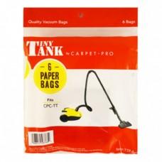 Carpet Pro Tiny Tank Vacuum Bags (6pk) TTP-6